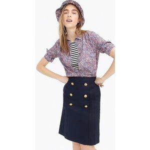 J. Crew | sailor skirt